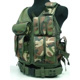 Airsoft Tactical Hunting Combat Vest Woodland Camo