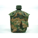 1Qt Canteen Water Bottle w/Pouch & Cup Digital Camo Woodland