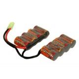 9.6v 1500mAh NiMH 2-Piece Battery for G&G G26
