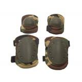 Tactical Knee & Elbow Pads set (woodland camo)