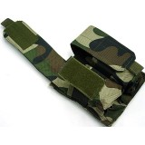 Molle Double Magazine Airsoft Pouch Camo Woodland