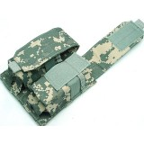 Molle Double Magazine Airsoft Pouch Digital ACU Camo
