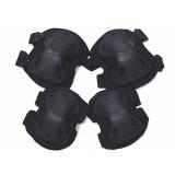 SWAT X-Cap Elbow & Knee Protective Pads Black