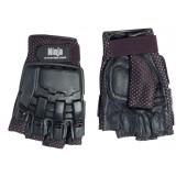 Gloves,½ finger, leather,