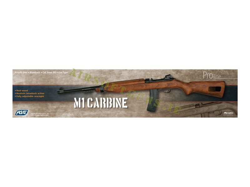 M1 Carbine Gas blowback Airsoft Rifle - AirSoftGuns ie airsoft shop