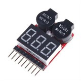 Lipo 2-8S Battery Meter, buzzer alarm, Airsoft
