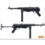 AGM, MP40, Black, Airsoft Electric, SMG, (MP007B)