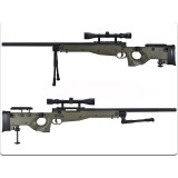 WELL, G96D AW .338, Sniper Rifle, Scope, Bipod, MB08D, Olive Drab