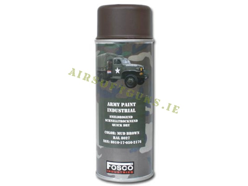 FOSCO Camouflage Spray Paint - Mud Brown