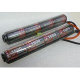 G&G 9.6V 1600 mAh battery for CQB, V shape