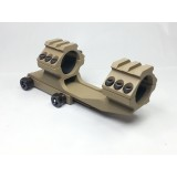 25mm Top-Rail QD Scope Dual Ring Tan