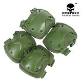 SWAT X-Cap Elbow & Knee Protective Pads Green