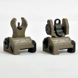 Troy Front and Rear Folding Battle sight HK Style Tan