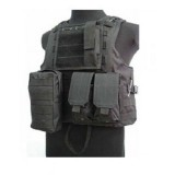 USMC Molle Combat Assault Plate Carrier Vest Black