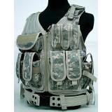 Airsoft Tactical Hunting Combat Vest Digital ACU Camo