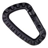 Carabiner tool plastic Black