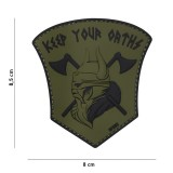 PATCH 3D PVC KEEP YOUR OATHS GREEN